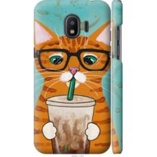 Чехол на Samsung Galaxy J2 2018 Зеленоглазый кот в очках (4054c-1351)