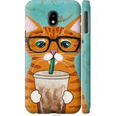 Чехол на Samsung Galaxy J3 (2017) Зеленоглазый кот в очках (4054c-650)