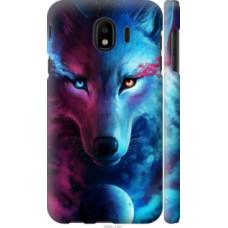 Чехол на Samsung Galaxy J4 2018 Арт-волк (3999c-1487)
