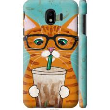 Чехол на Samsung Galaxy J4 2018 Зеленоглазый кот в очках (4054c-1487)