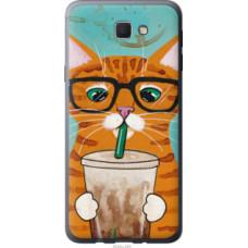 Чехол на Samsung Galaxy J5 Prime Зеленоглазый кот в очках (4054u-465)