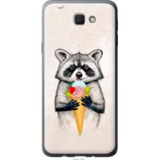 Чехол на Samsung Galaxy J5 Prime Енотик с мороженым (4602u-465)