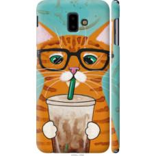 Чехол на Samsung Galaxy J6 Plus 2018 Зеленоглазый кот в очках (4054c-1586)