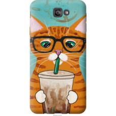 Чехол на Samsung Galaxy J7 Prime Зеленоглазый кот в очках (4054u-610)