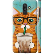 Чехол на Samsung Galaxy J8 2018 Зеленоглазый кот в очках (4054c-1511)