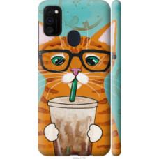 Чехол на Samsung Galaxy M30s 2019 Зеленоглазый кот в очках (4054c-1774)
