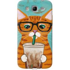 Чехол на Samsung Galaxy Mega 5.8 I9150 Зеленоглазый кот в очках (4054u-309)