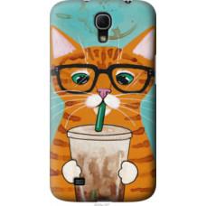 Чехол на Samsung Galaxy Mega 6.3 i9200 Зеленоглазый кот в очках (4054u-167)