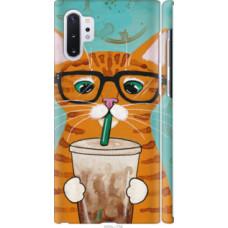 Чехол на Samsung Galaxy Note 10 Plus Зеленоглазый кот в очках (4054c-1756)