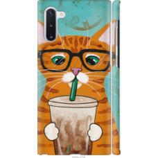 Чехол на Samsung Galaxy Note 10 Зеленоглазый кот в очках (4054c-1718)