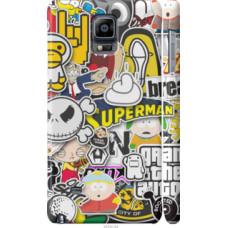 Чехол на Samsung Galaxy Note 4 N910H Popular logos (4023c-64)