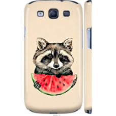 Чехол на Samsung Galaxy S3 i9300 Енотик с арбузом (4605c-11)