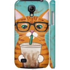 Чехол на Samsung Galaxy S4 mini Duos GT i9192 Зеленоглазый кот в очках (4054c-63)