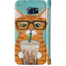 Чехол на Samsung Galaxy S6 Edge G925F Зеленоглазый кот в очках (4054c-83)
