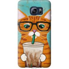 Чехол на Samsung Galaxy S6 Edge Plus G928 Зеленоглазый кот в очках (4054u-189)