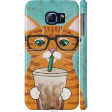 Чехол на Samsung Galaxy S6 G920 Зеленоглазый кот в очках (4054c-80)
