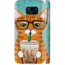 Чехол на Samsung Galaxy S7 G930F Зеленоглазый кот в очках (4054c-106)