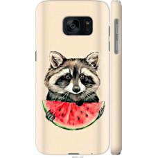Чехол на Samsung Galaxy S7 G930F Енотик с арбузом (4605c-106)
