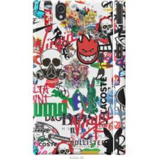 Чехол на Sony Xperia Z C6602 Many different logos (4022c-40)