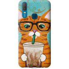 Чехол на Vivo Y11 Зеленоглазый кот в очках (4054u-629)