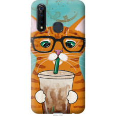 Чехол на Vivo Z5X Зеленоглазый кот в очках (4054u-1765)