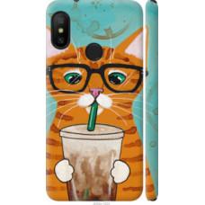 Чехол на Redmi 6 Pro Зеленоглазый кот в очках (4054c-1595)