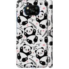 Чехол на Xiaomi Poco X3 Панды (4318c-2073)