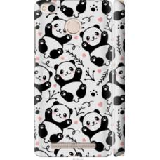 Чехол на Xiaomi Redmi 3x Панды (4318c-441)