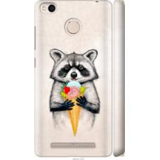 Чехол на Xiaomi Redmi 3x Енотик с мороженым (4602c-441)