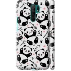 Чехол на Xiaomi Redmi 9 Панды (4318c-2019)