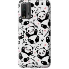 Чехол на Xiaomi Redmi 9T Панды (4318u-2257)